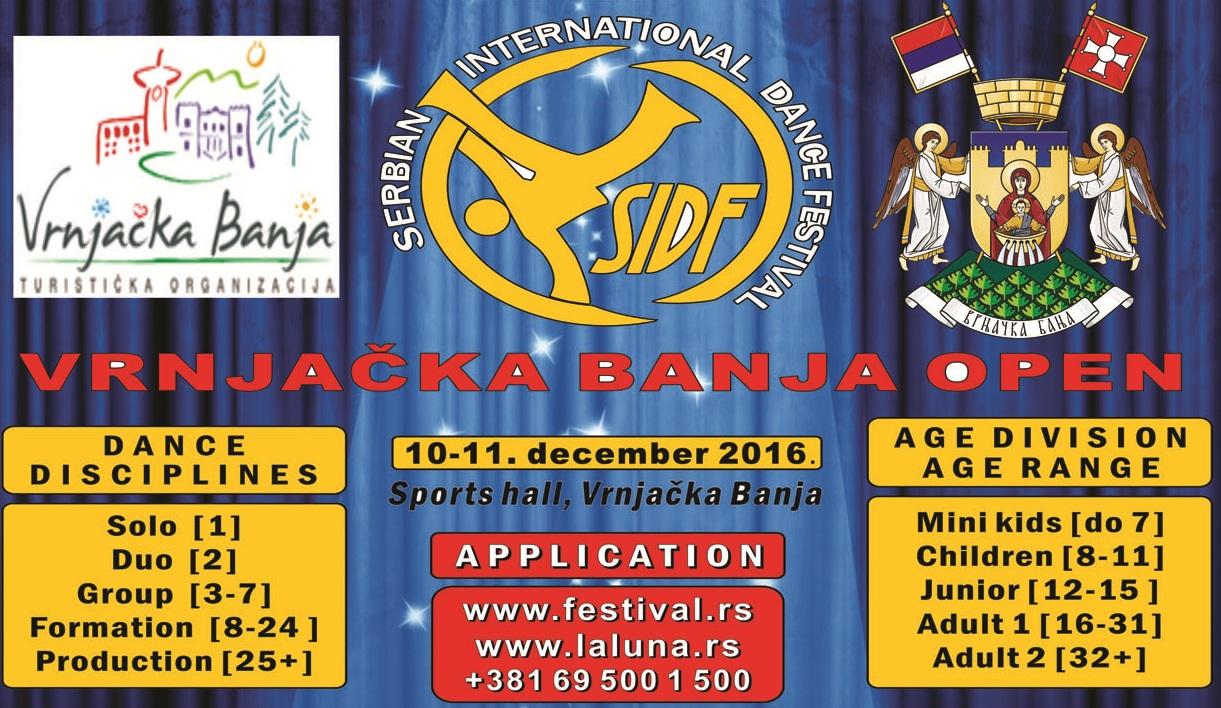SIDF-Vrnjačka Banja Open-10-11.decembar.2016.god. KATEGORIJE. INFO