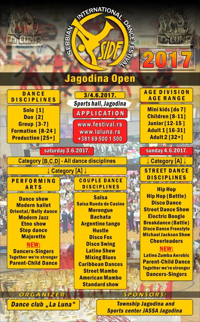 Serbian International Dance Festival-Jagodina Open-3-4.juna .2017.godine