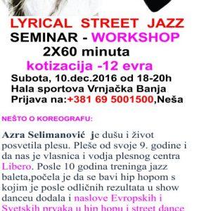 Azra Selimanović – Lyrical Street Jazz seminar