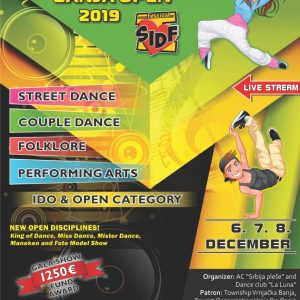 SERBIAN INTERNATIONAL DANCE FESTIVAL-VRNJAČKA BANJA OPEN-7-8.dec.2019.